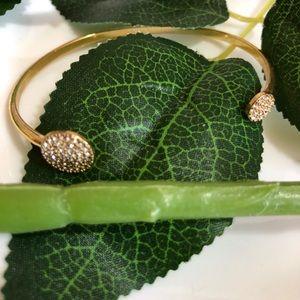 Stella & Dot Disc Cuff Bracelet - Pave Crystals